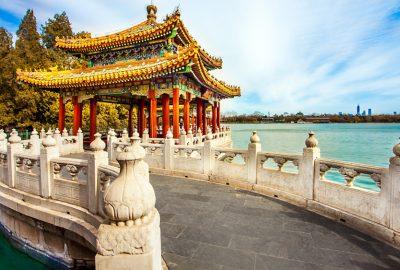 Pagoda in Beihai Park Beijing