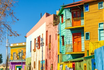 Colourful houses in La Boca area of Buenos Aires