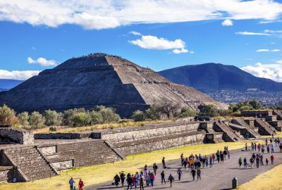 Pyramid of the Sun in Teotihuacan near Mexico City