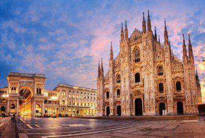 Duomo di Milano in Milan during sunset