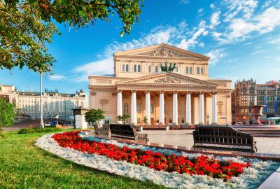Bolshoi Theater in Moscow on a summer sunny day