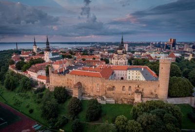 Beautiful view from Toompea in Tallinn