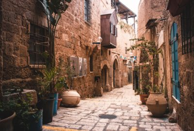 Street of Old City in Jaffa Tel-Aviv