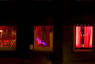 Window girls in the Schipperskwartier, Antwerp's red light district