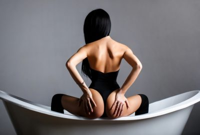 Chinese masseuse in bath tub of Beijing erotic massage parlor