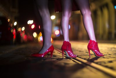 Prostitutes walking the streets in Brussels