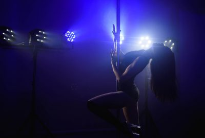 Girl doing pole dance in Melbourne striptease club