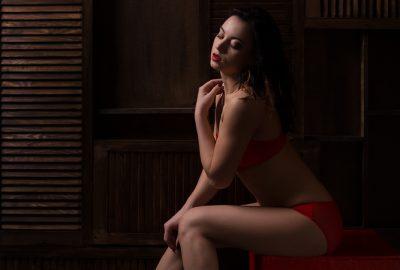 Prostitute posing in Nicosia bordello
