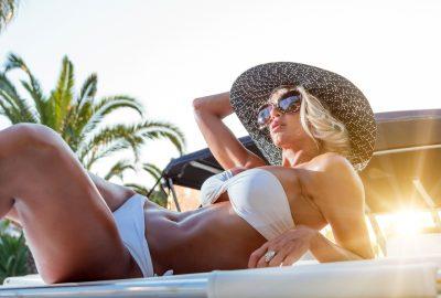 Sunbathing Slavic escort in Nicosia