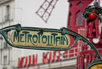 Metro station in Pigalle, the renowned red light district of Paris