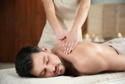 Shoulder massage by erotic masseuse in St. Julians