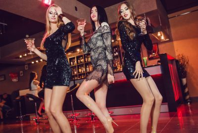 Beautiful Estonian girls partying in Tallinn night club