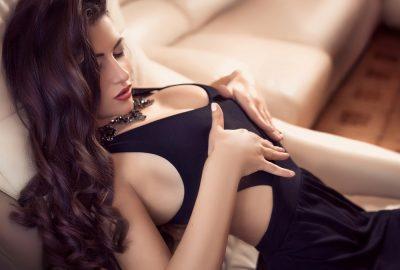 Toronto escort in seductive pose