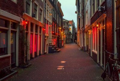 Street in de Wallen, Amsterdam's red light district