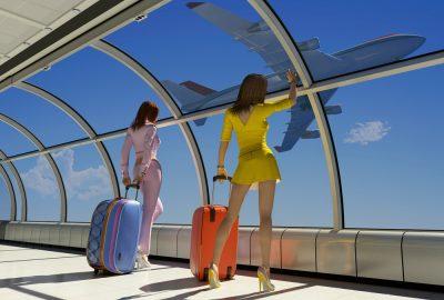 Two escorts on airport touring to Dubai