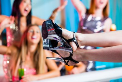 Girls partying hard in Palma de Mallorca night club