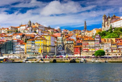 Old Town of Porto at the Douro river