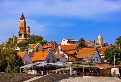 Old Town of Zemun with Gardos Tower (Kula Gardos) at the Danube near Belgrade