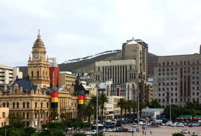The City Hall of Cape Town at the Grand Parade, the city's main square where you can also find Nelson Mandela's statue