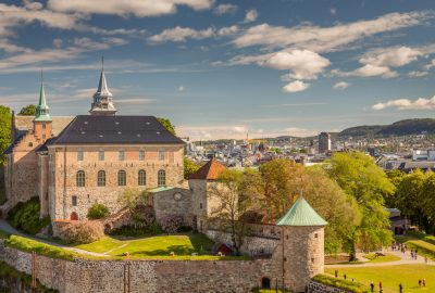 The medieval Akershus Fortress in Oslo