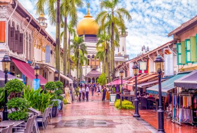 The Sultan Mosque (Masjid Sultan) in the Kampong Glam district of Singapore