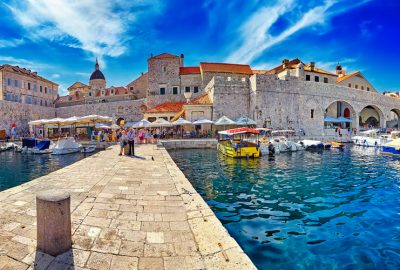 Harbour in Old Town of Dubrovnik