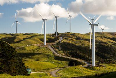 Wind mills of West Wind farm in Wellington
