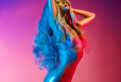 Gorgeous blonde Russian stripper in Vladivostok striptease club
