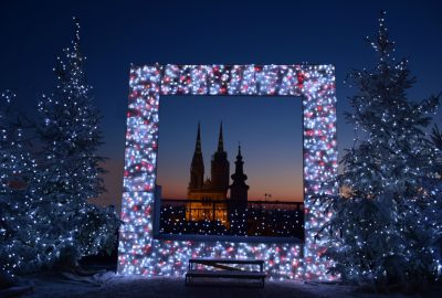 Zagreb Cathedral at Christmas time