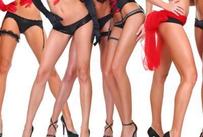 Group of show girls and dancers of Canberra striptease club