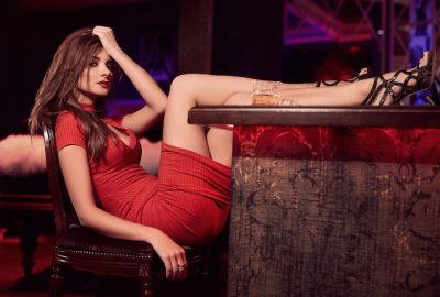 Stunning Ukrainian girl in seductive pose at a bar in Kharkov