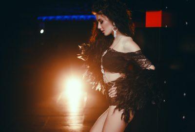 Gorgeous Ukrainian dancer performing on stage in Kharkov strip club